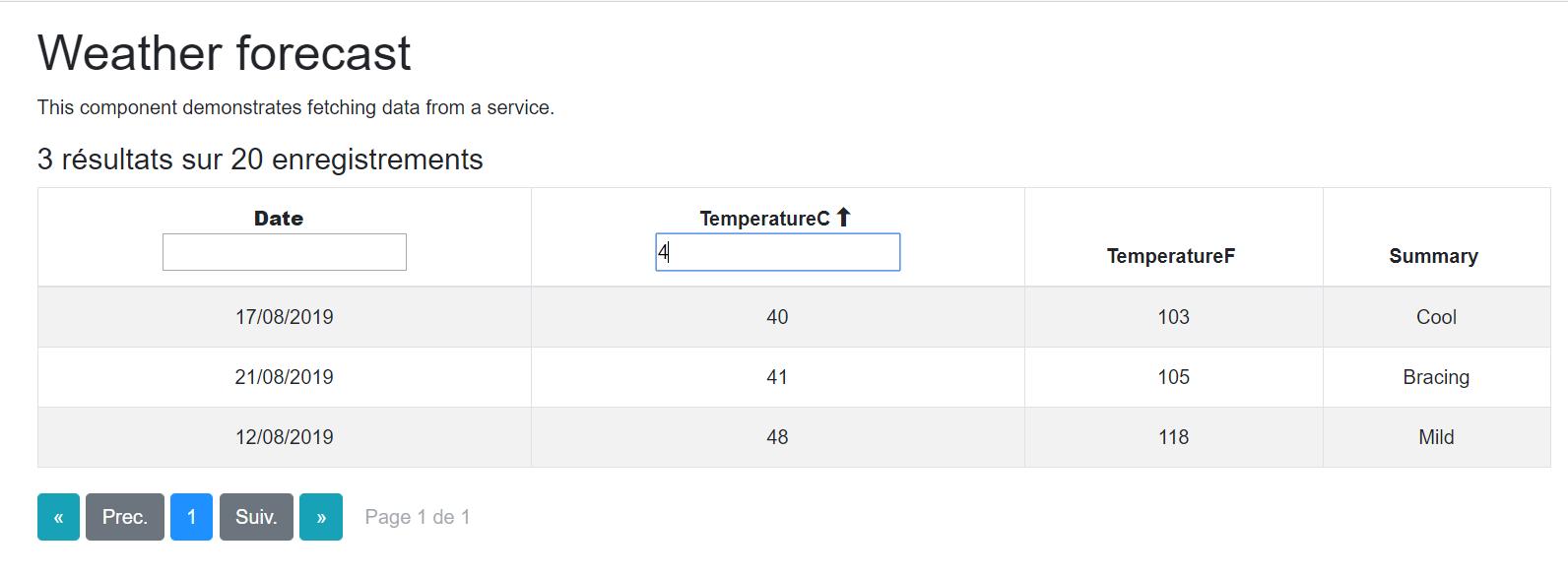 Réaliser un composant Blazor réutilisable : Exemple avec une datagrid (partie 3/3 : Filtres)